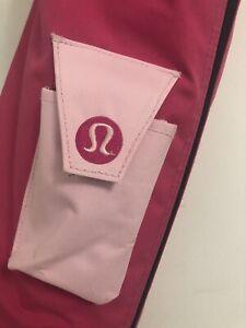 "*Rare* Early Edition And Design - Pink Lululemon Yoga Mat Carrier Bag. EUC L:26"""