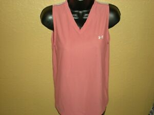 Under Armour Metal Athletic Tank Top Pink/Silver Women's Size Large LG