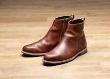 Helm Pablo Brown Side Zip Boots Size 11.5 D Goodyear Welt Wolverine Red Wing