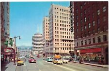 Postcard CA Los Angeles Hollywood and Vine Famous Corner Photo Old Cars