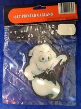 10 Foot Printed Halloween Party Garland White Ghost And Bat