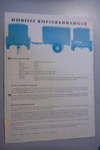 Verkaufsprospekt /Poster~Döblitzer Kofferanhänger -Datenblatt  /216