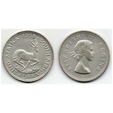 1958 Sud-Africa 5 chelines - Moneda plata