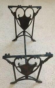 Vintage/Antique Cast Iron Coat Of Arms Bench Frame