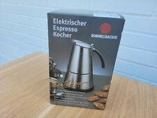 Rommelsbacher EKO 364/E Edelstahl/Schwarz 4 Tassen Espressomaschine NEU Garantie