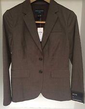 New Banana Republic Women's Dress Blazer Dark Brown Size 4 PETITE Retail 149.99