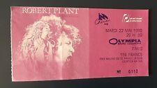 ticket billet place concert ROBERT PLANT 1990 PARIS Olympia LED ZEPPELIN