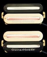 Guitar Parts GUITARHEADS PICKUPS MEGAMETAL HUMBUCKER - Bridge Neck SET 2 - ZEBRA