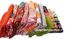 Indian Vintage Kantha Quilt Wholesale Lot 10pc Cotton Bedding Bedspread Coverlet