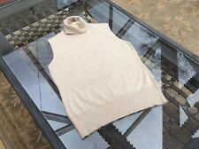 Womens Linea Sleeveless Knitted Beige Top Size 10
