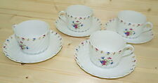 """Haviland Limoges Lutetia (4) Cups, 2 1/8"""" and (4) Saucers, 5 3/4"""""""
