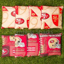 Cornhole Bean Bags Set of 8 ACA Regulation Bags San Francisco 49ers Free Ship