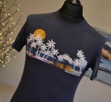 Fat Face Mens Crew Neck Tee T-Shirt Top SS Navy Blue Paradise Island Sz XS
