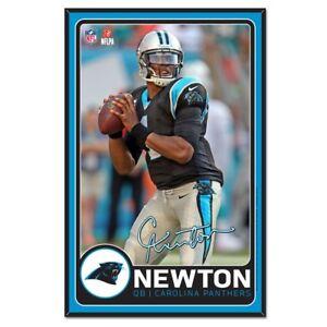 Carolina Panthers Wincraft NFL Cam Newton 11x17 Wood Sign With Bevel FREE