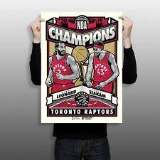 "Toronto Raptors 2019 NBA Champions Limited Edition 18"" x 24"" Serigraph"