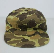 Vtg Trapper Hat Made In The USA Fitted Cap Camouflage Camo Hunting Large Gortex