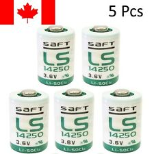 5Pc Saft LS14250 Battery 1/2 AA 3.6V Li-SOCl2 Lithium-Thionyl Chloride batteries