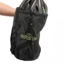 Arina 210D Drawstring Cycling / Bicycle / Cycle Helmet Storage Bag  - Black