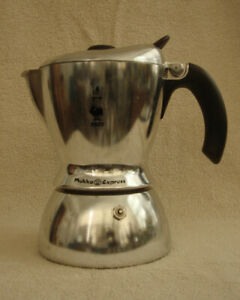 Bialetti Mukka Express 2 Cup Cow Cappuccino Maker Stove Top Black & White