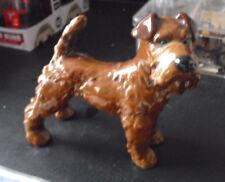 """Vintage Goebel W Germany Brown Terrier Dog Figurine 4 1/2"""" Tall"""