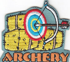 """""""ARCHERY"""" TARGET - IRON ON EMBROIDERED PATCH/Sport, Games, Competition"""