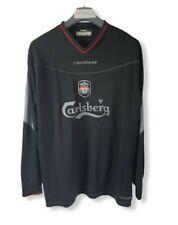 Liverpool FC Shirt 2002/2003/2004 Away 3rd Reebok Black Long Sleeve Large B10