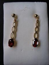 Amethyst Oval Fine Gemstone Earrings