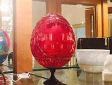 FABERGE Full Lead Red Crystal Easter Egg Hermitage Palace Anastasia Russian 003
