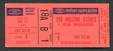1981 Rolling Stones concert ticket stub Tattoo You Madison Square Garden NY
