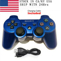 PS3 Controller PlayStation DualShock 3 Wireless SixAxis Controller GamePad Blue
