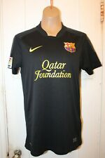 NIKE Barcelona FC Away '2011-2012 Football Soccer Jersey Black Men's Small