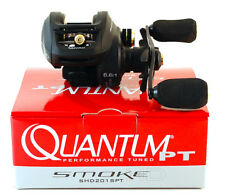 QUANTUM SMOKE HD SHD201SPT 6.6:1 GEAR RATIO LEFT HAND BAITCAST REEL