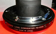 Canon Lens Converter FD-EOS, Mint-Glass, Original, Rare, Free Shipping in USA