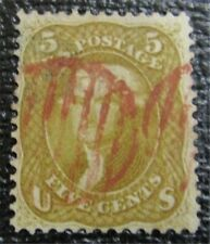 nystamps US Stamp # 67 Red Cancel $800