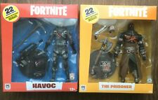 Lot of 2 McFarlane Toys Fortnite Action Figures - Havoc and The Prisoner - New
