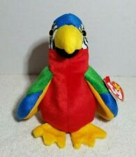 TY Beanie Baby Retired Jabber The Macaw Parrot 1997