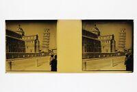 Italia Pisa Torre Pendente Foto Placca P45L5n11 Lente Positivo Stereo