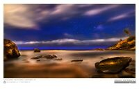 """20""""x30"""" Print - Night Photography Experiment Laguna Beach - Signed And Numbered"""