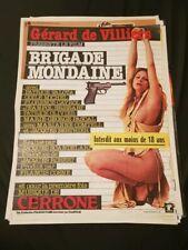 Affiche de cinéma d'époque du film: BRIGADE MONDAINE (40x60cm) 1978