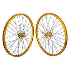 "26""x1.75"" SE Racing Sealed Bearing Wheelset BMX GOLD"