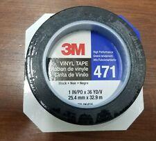 New listing 3M Black 471 Vinyl Tape 1 in x 36 yd P/N 06415 25.4mm x 32.9mm 1 Roll