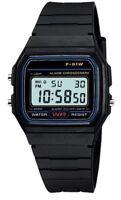 Uk Seller !!! Replacement Casio F-91w Style Wrist Watch Retro Digital - Black