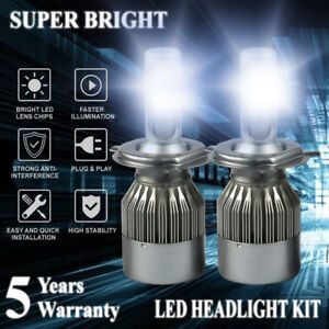 H4 HB2 9003 6000K LED Headlight Conversion Kit Bulbs 1800W 270000LM Hi-Lo Beam