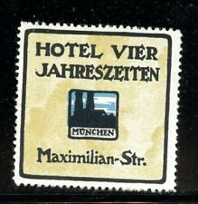 Germany poster stamp Hotel Vier Jahreszeiten Munich
