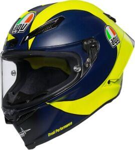 AGV Unisex-Adult Full Face Helmet Yellow//Blue//Black, Medium//Large
