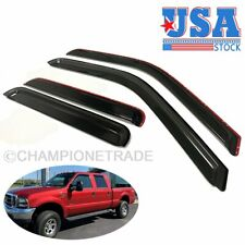 US IN-CHANNEL Window Visor Vent Guard For 1999-2016 Ford F-250 Crew Super Duty