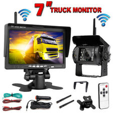 """New listing 7"""" Hd Vehicle Rear View Monitor + Back Up Camera Night Vision Parking System Rv"""