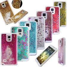 Bling Handy Cover Hülle Case Flüssig Sterne Glitzer schimmernd Für Samsung Apple