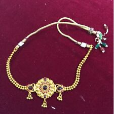 Ethnic Indian Bollywood Matte Gold Plated Exotic Adjustable Armlet Pink Stone