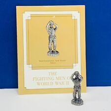 Franklin mint fighting men World War II WWII pewter figurine Tank troops France